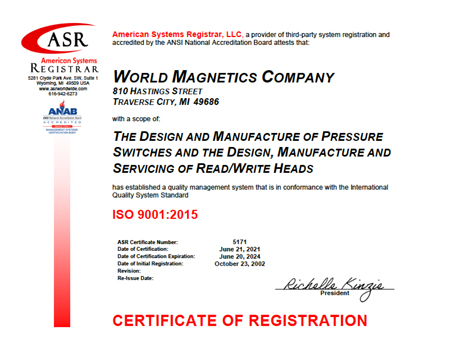 Click to view ISO:9001:2015 certificate